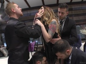 Glamorous blonde chick and her Czech friend organized wild sex party