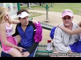 Teen Cheerleaders Dad's Agree To Swap Daughters - DaughterSwapHD.com