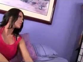 Mom caught pervert son spying on her