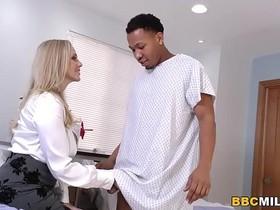 Busty Cougar Julia Ann Handles Big Black Cock At The Surgery