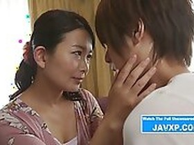 Beautiful Japanese Stepmom Horny For Her Son